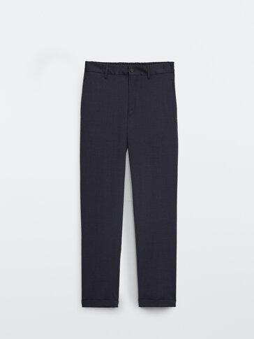 Eleganckie spodnie chinosy o kroju slim