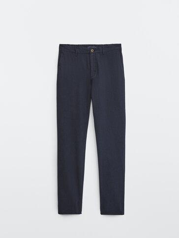 מכנסי chinos טרנינג עם הדפס פפיטה