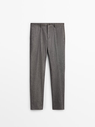 Spodnie chinosy o kroju slim z diagonalu