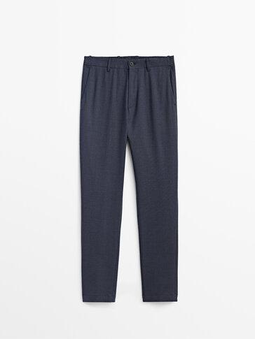 Flanelowe spodnie jogger