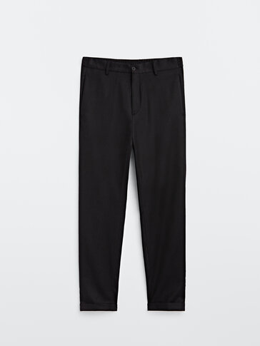 100% wool washable jogging fit trousers