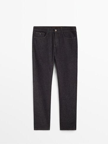 Nieelastyczne spodnie dżinsowe o kroju slim fit