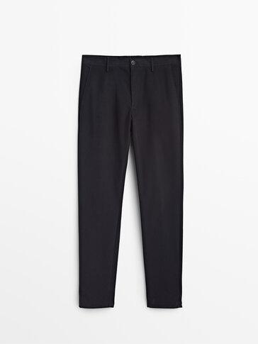 Βαμβακερό παντελόνι chino slim fit