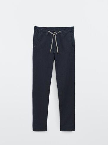 Spodnie jogger w stylu jeansowym