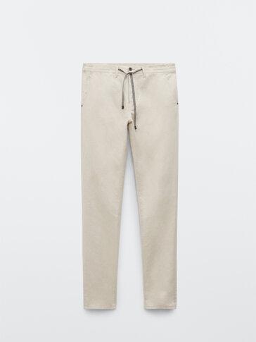 Pantalon type jean coupe jogging