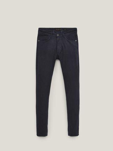 Ozke teksturirane džins hlače