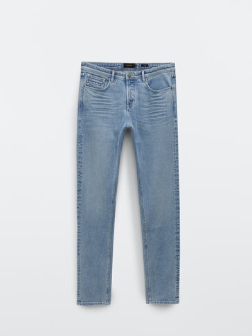 Slim-Fit-Jeans im Washed-Look