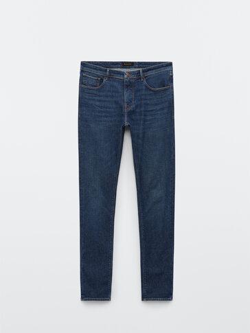 Slim fit stone wash jeans