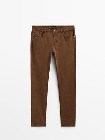 Slim fit denim hlače iz kepra
