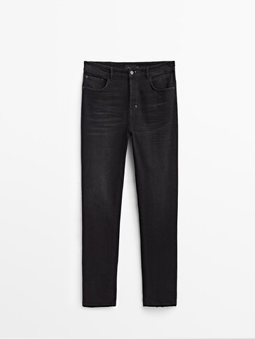 Tapered fit stone jeans