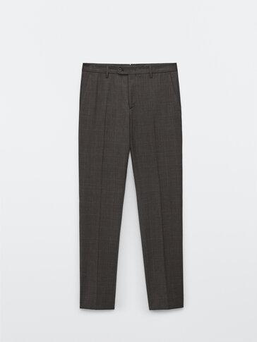 Кариран панталон от 100% вълна