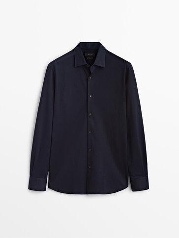 Slim-fit 100% cotton shirt