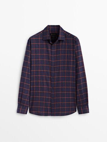 Camisa quadres 100% cotó slim fit