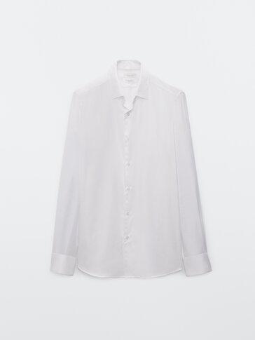 Hemd aus reiner Baumwolle mit Fischgrätmuster