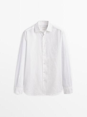 Chemise en pur coton slim fit