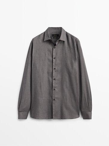 Slim fit katoenen Oxford overhemd Limited Edition