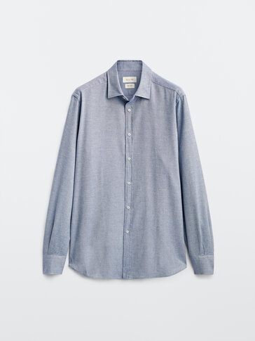 Slim fit 100% cotton shirt