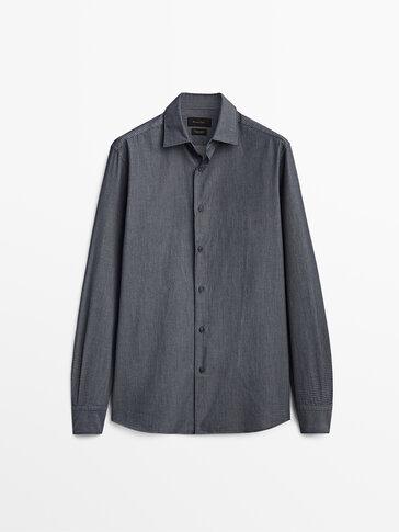 Chemise en jean pur coton coupe slim