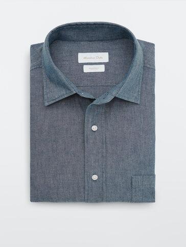 Slim-Fit-Jeanshemd aus reiner Baumwolle