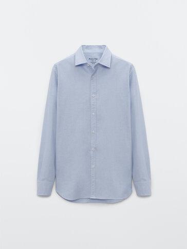 Slim-Fit-Oxfordhemd aus reiner Baumwolle