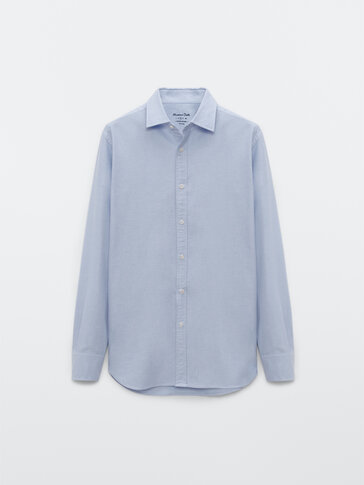 Slim fit 100% cotton Oxford shirt