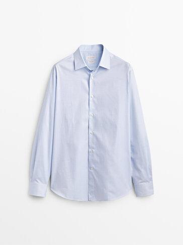 Slim fit check 100% cotton shirt