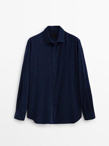 Slim fit needlecord shirt