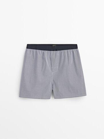 Pack calzoncillos rayas/cuadros algodón