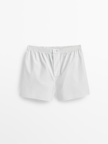 Poplin boxers with