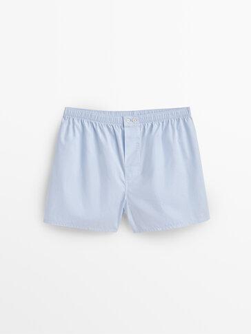 Fil-à-fil cotton boxers