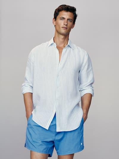 마시모두띠 수영복 Massimo Dutti Plain pigment swimming trunks,BLUE