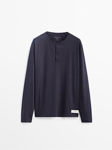 Pijama largo camiseta panadera algodón