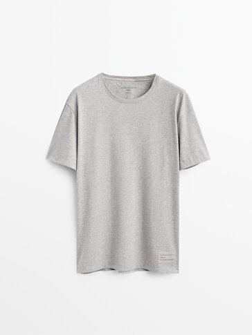 Polka dot pyjama bottoms and short sleeve T-shirt