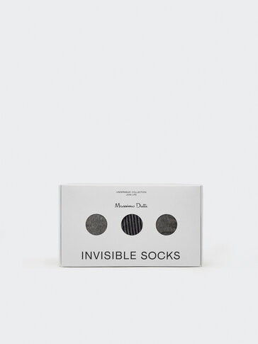 Lot de socquettes invisibles en coton