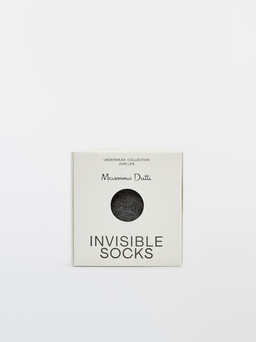 Calcetines invisibles color block algodón