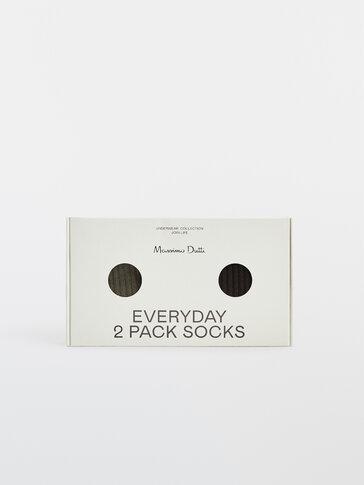Pack calcetines canalé algodón
