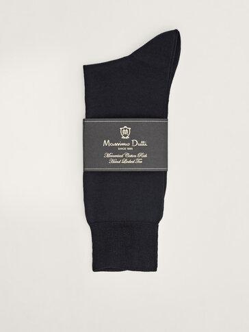 Chaussettes en fil uni