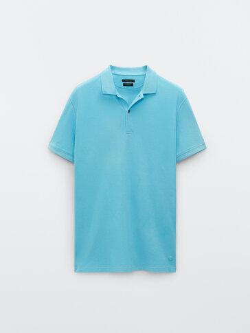 Kurzärmeliges Poloshirt aus reiner Baumwolle