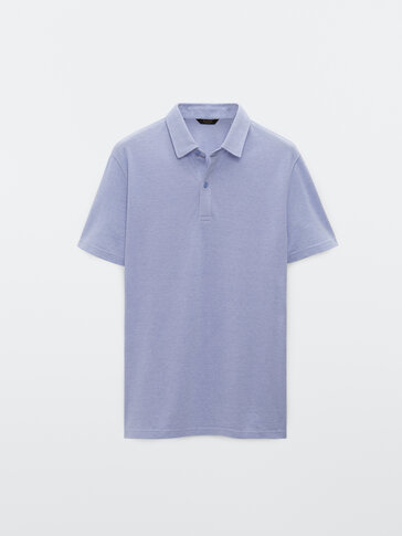 Kurzärmeliges Oxford-Poloshirt aus Baumwolle