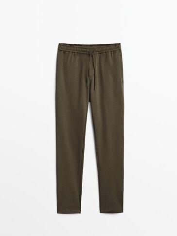 Bawełniane spodnie o kroju jogger