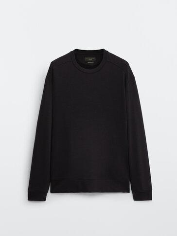 Sweatshirt in 100% merino wool