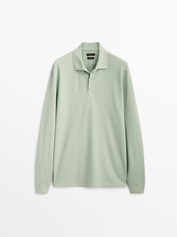 Piqué 100% cotton polo shirt