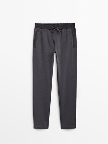 Cotton jogging fit trousers