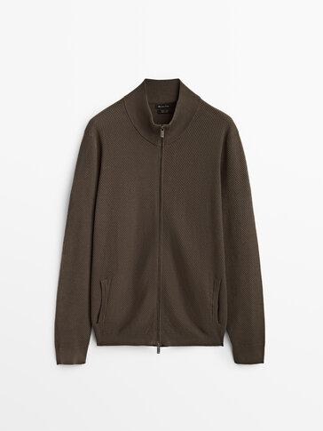 Cardigan con struttura 100% cotone