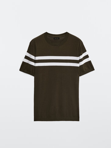 Stripet t-skjorte cotton