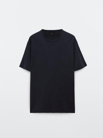 Katoenen tricot T-shirt met korte mouw