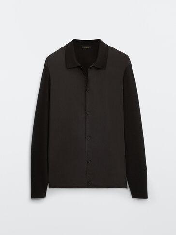 Cardigan tissu technique combiné