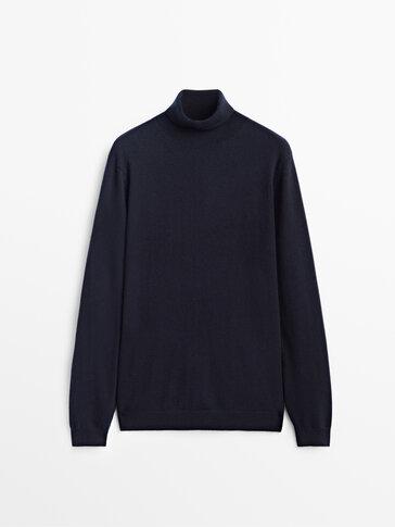 Rullekravesweater i 100% kashmir