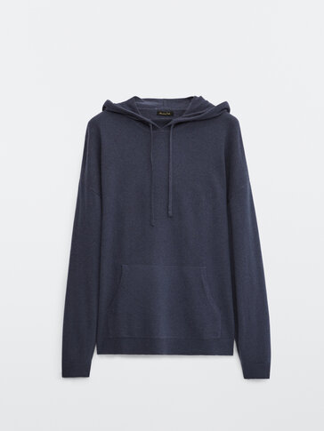 100% cashmere knit hoodie