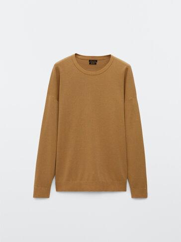 Пуловер с бие по врата от 100% памук